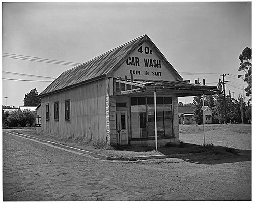 Derelict car wash in country NSW