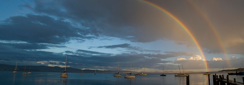 Double Rainbow over the Derwent, Hobart, Tasmania