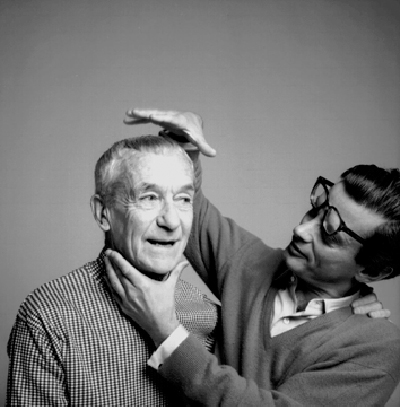 Lartigue and Richard Avedon. Photo by Florette Lartigue