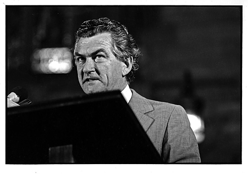 Bob Hawke in vindictive mode. I always thought that underneath the smooth exterior lay one very good hater. I think I caught it here. © Rob Walls