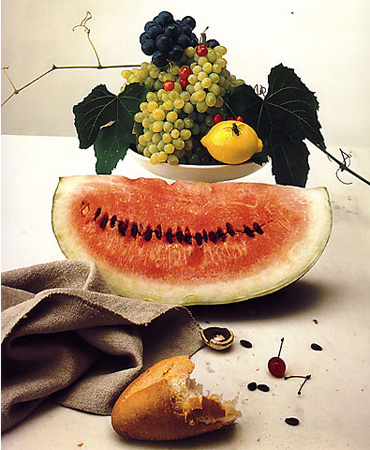 Food still-life by Irving Penn