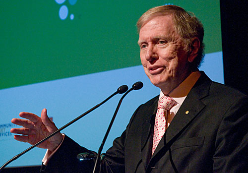 Retired High Court Judge, Michael Kirby speaking at the Jobs Australia conference in Hobart, 23rd October, 2009.