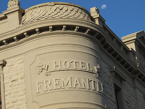 Moonrise over the Fremantle Hotel