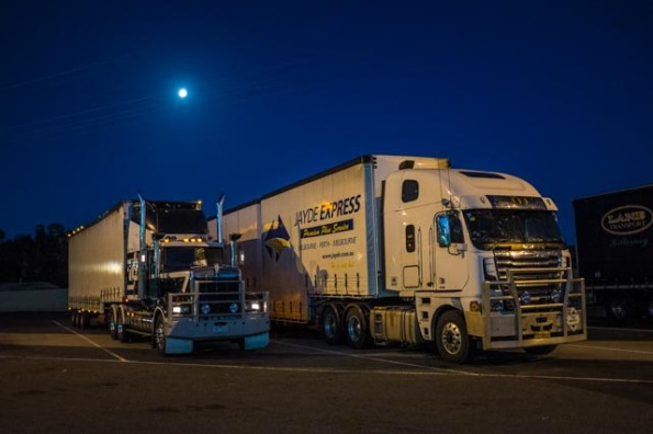 Overnight truck rest stop in Nhill, Western Victoria © Rob Walls 2015